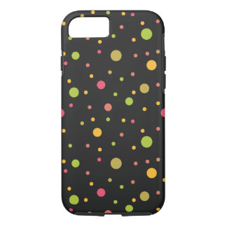 Contemporary Art with Colorful Dots Spots iPhone 7 Case