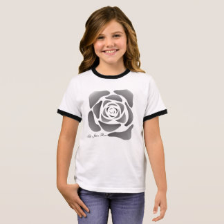 Contemporary Balck Rose T-Shirt