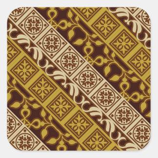 Contemporary Batik Pattern #1 Square Sticker
