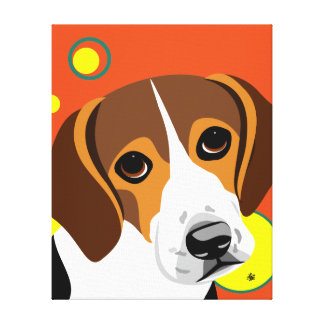Contemporary Beagle Lover Art Canvas Print