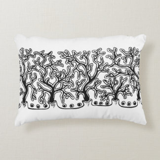 Contemporary Black and White Abstract Joshua Tree Decorative Pillow