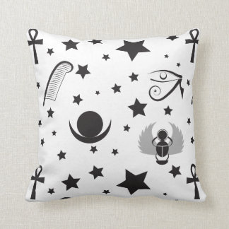 Contemporary Black and White Egyptian Pillow