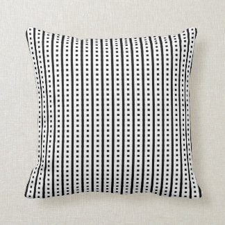 Contemporary Black and White Pattern Throw Pillow