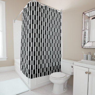 Contemporary Black and White Rectangle Pattern