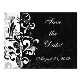 Contemporary Black and White Swirl Card