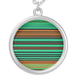 Contemporary black orange and green stripes pendants