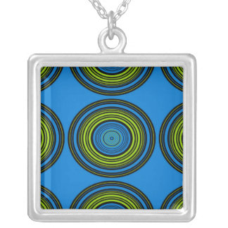 Contemporary blue and green circles jewelry