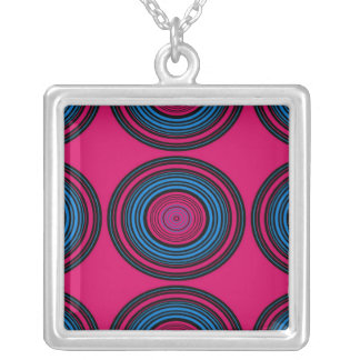 Contemporary blue and pink circles jewelry