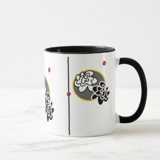 Contemporary bright flower coffee mug