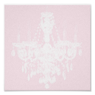 Contemporary Chandelier Silhouette Art - Print #1