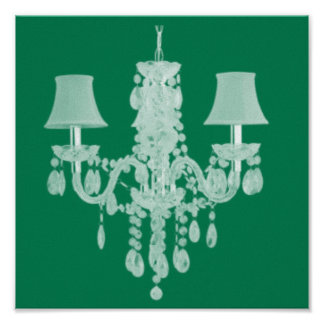 Contemporary Chandelier Silhouette Art - Print #2
