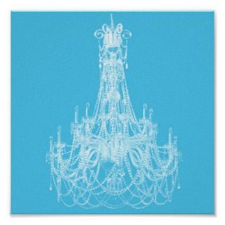 Contemporary Chandelier Silhouette Art - Print #4