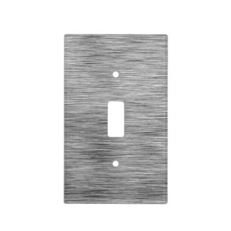 Contemporary Charcoal Gray Etched Lines Light Switch Cover