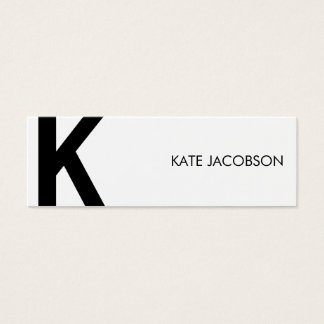 Contemporary Chic Skinny Calling Card
