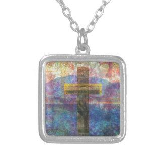 Contemporary Christian Art  Modern Cross Necklace