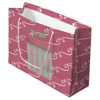 Contemporary Christmas Colours Large Gift Bag