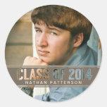 Contemporary Class of 2014 Photo Graduation Stickers