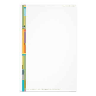 Contemporary Color Field Personalizable Stationary Stationery Paper