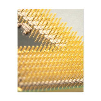 contemporary computer art: central processing unit stretched canvas print