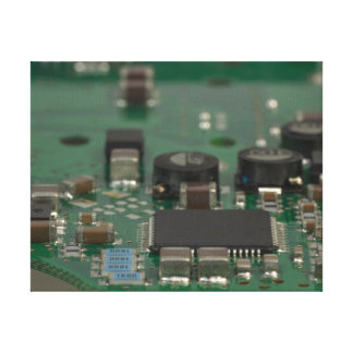 contemporary computer art: motherboard / mainboard canvas prints