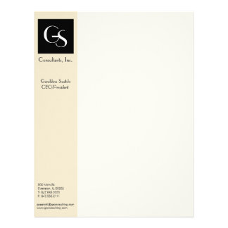 contemporary corporate letterhead