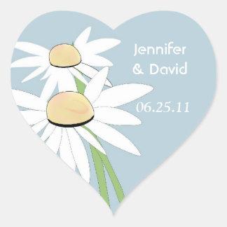 Contemporary Daisy Wedding Envelope Seal Stickers