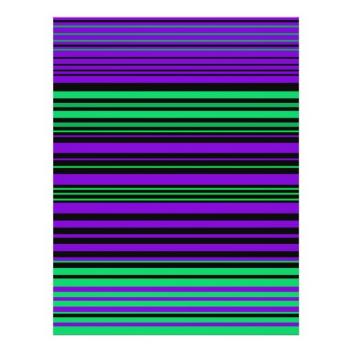 Contemporary dark purple green and black stripes flyers