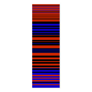 Contemporary dark red blue and black stripes business cards