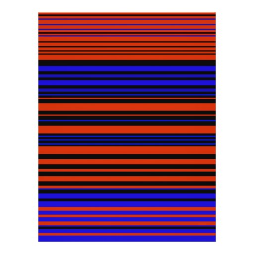 Contemporary dark red blue and black stripes custom flyer