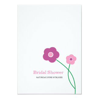 Contemporary Floral Bridal Shower Invitations