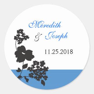 Contemporary Floral Wedding Sticker