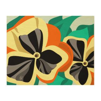 Contemporary Flower Art _ Pansies