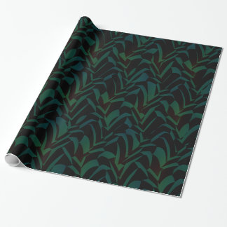 Contemporary Forest Foliage Pattern Wrapping Paper