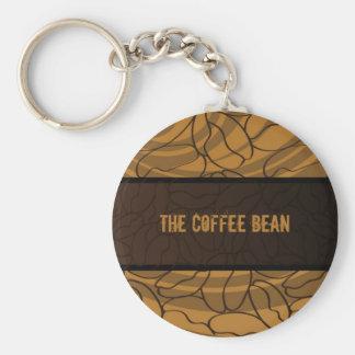 Contemporary, Fun & Colorful Coffee Bean Keychain. Keychain