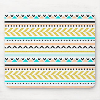 Contemporary Geometric Aztec Inspired Pattern Mouse Pad
