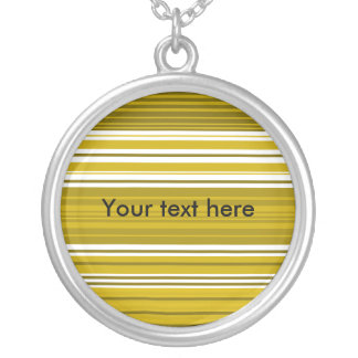 Contemporary gold and white stripes pendants