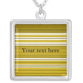Contemporary gold and white stripes necklaces