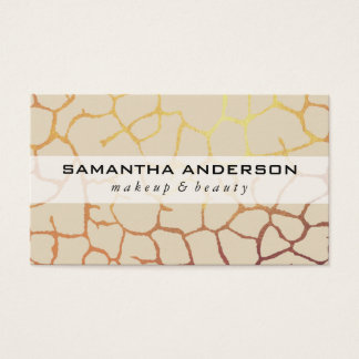 Contemporary Gold Chic Pattern Business Card