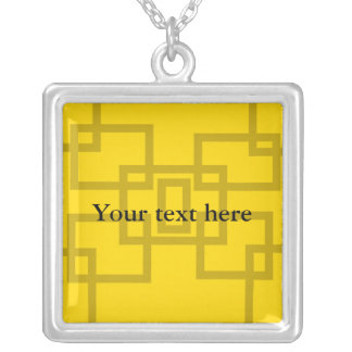 Contemporary gold squares on yellow custom jewelry