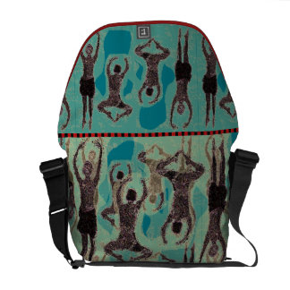 Contemporary Graphic Jumping Dancers Courier Bag