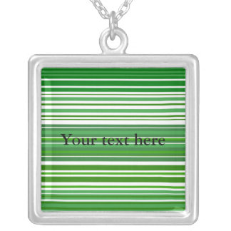 Contemporary green and white stripes custom jewelry