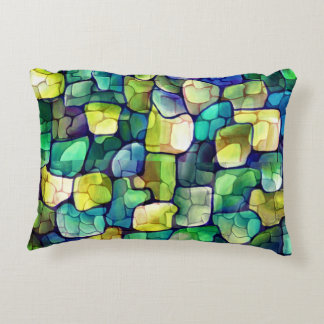 Contemporary Green Pattern Accent Pillow