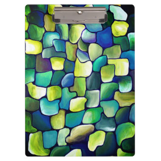 Contemporary Green Pattern Clipboard