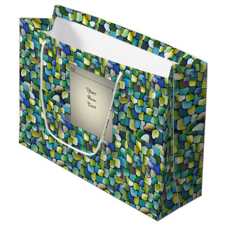 Contemporary Green Pattern - papyrus Large Gift Bag