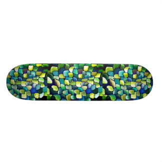 Contemporary Green Pattern Skateboard Decks