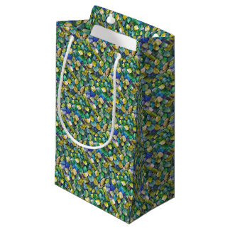 Contemporary Green Pattern Small Gift Bag