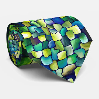 Contemporary Green Pattern Tie