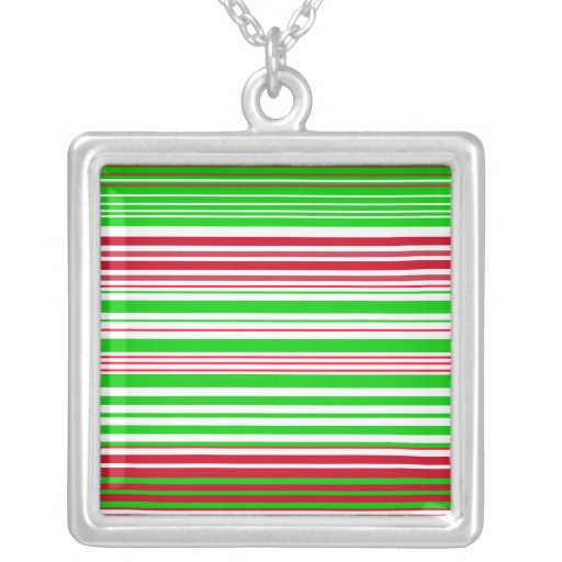 Contemporary green white and red stripes pendant