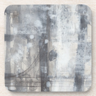 Contemporary Grey Painting Coaster