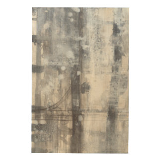 Contemporary Grey Painting Wood Wall Decor